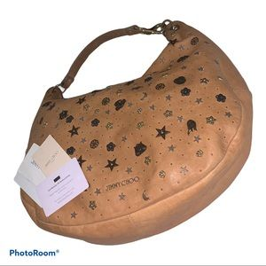 Authentic Jimmy Choo large leather hobo bag